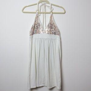 Victoria's Secret | Bra Top Sequin Halter Dress M